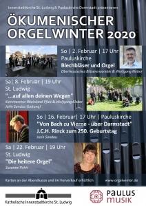 Plakat Orgelwinter 2020 Pauluskirche Darmstadt